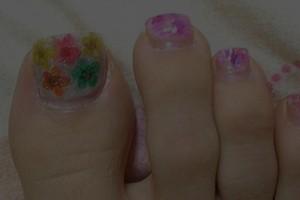 Nail , 6 Easy Toe Nail Designs : Cool Floral Toe Nail Designs