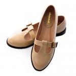 Cream Vintage Nautical Style Flat Mary Jane Dress Shoes , 8 Vintage Style Dress Shoes In Shoes Category