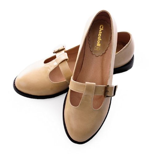 Cream Vintage Nautical Style Flat Mary Jane Dress Shoes 8 Vintage Style Dress Shoes Woman