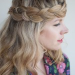 Crown Braid for Long Hair , 7 Braiding Styles For Long Hair In Hair Style Category