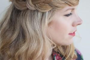 Hair Style , 7 Braiding Styles For Long Hair : Crown Braid for Long Hair