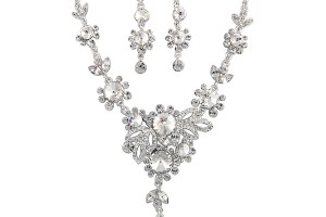 Jewelry , 6 Crystal Necklace And Earring Set : Crystal Bloom Bridal Necklace and Earring set