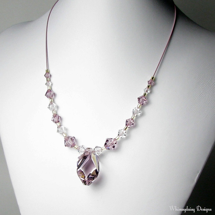 7 Crystal Necklace Etsy in Jewelry