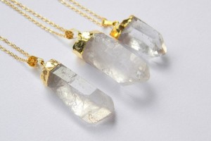 Jewelry , 7 Crystal Necklace Etsy : Crystal Point Necklace