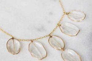 Jewelry , 7 Crystal Bib Necklace Etsy : Crystal Quartz Bib Necklace Jewelry Womens