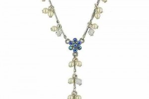 Jewelry , 7 Pearl And Crystal Necklace : Crystal and Pearl Y-Necklace