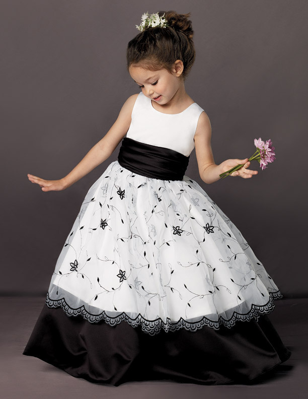 Little Girls Formal Party Gowns Flower Girl Dress In Flower Girl