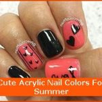 Cute Acrylic Nail Colors For Summer , 6 Cute Acrylic Nail Designs In Nail Category
