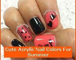 Nail , 6 Cute Acrylic Nail Designs : Cute Acrylic Nail Colors For Summer