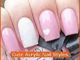 Nail , 6 Cute Acrylic Nail Designs : Cute Acrylic Nail Styles