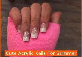 Nail , 6 Cute Acrylic Nail Designs : Cute Acrylic Nails For Summer