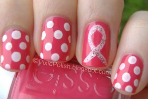 Nail , 6  Breast Cancer Nail Designs : TheSwatchingSprite: October Is Breast Cancer Awareness Month