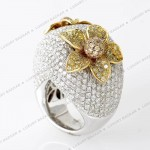 Diamond Flower Ring , 12 Gold Diamond Ring In Jewelry Category