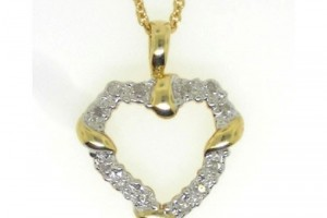 Jewelry , 8 Gold Heart Necklaces For Women : Diamond Gold Heart Pendant