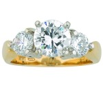 Diamond Ring Triple Band Diamond Ring , 12 Gold Diamond Ring In Jewelry Category