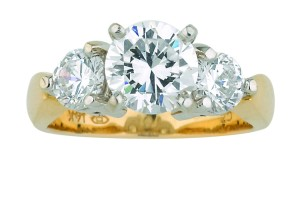 Jewelry , 12 Gold Diamond Ring : Diamond Ring Triple Band Diamond Ring