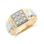 Diamond Yellow Gold Ring , 12 Gold Diamond Ring In Jewelry Category