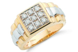 Jewelry , 12 Gold Diamond Ring : Diamond Yellow Gold Ring
