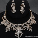 Gold Jewellery Designs: Diamond Necklace Designs , 7 Diamond Necklace Designs In Jewelry Category
