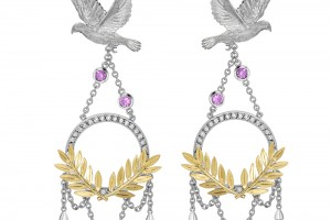 Jewelry , 8 Gold Drop Earrings : Dove and Olive Branch Drop Earrings