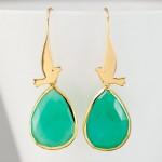 Drop Earrings Flying Dove , 8 Gold Drop Earrings In Jewelry Category