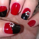Easy Red and Black Nail Design , 6 Black Red Nail Design In Nail Category