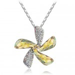 Faceted Theme Crystal Jewelry Windmills Necklace , 6 Crystal Necklace In Jewelry Category