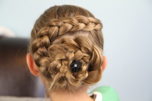 Hair Style , 6  Updo Prom Hairstyles For Black Girls : Dutch Flower Braid | Updo Hairstyles | Cute Girls Hairstyles