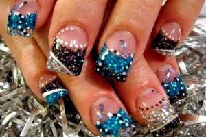 Nail , 6 Cute Acrylic Nail Designs : Glitter Cute Acrylic Nail Designs Cute Acrylic Nail Designs