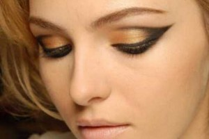 Make Up , 8 Eye Makeup For A Cat : Gold Cat Eyes Makeup