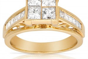 Jewelry , 12 Gold Diamond Ring : Gold Diamond Engagement Ring