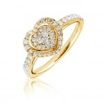 Gold Diamond Heart Ring , 12 Gold Diamond Ring In Jewelry Category