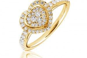 Jewelry , 12 Gold Diamond Ring : Gold Diamond Heart Ring