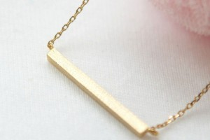 Jewelry , 12 Necklace Etsy : Golden Bar Necklace Etsy
