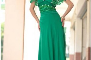 Fashion , 6 Green Vintage Prom Dress Designs : Green Formal Dress - Vilma in Vintage Green Lace