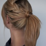 braid adds a pretty twist , 6 Pretty Ponytail Hairstyles In Hair Style Category