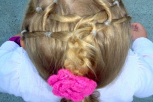 Hair Style , 7 Hairstyles With Rubber Bands : Hairstyles with Neon Green Rubber Bands