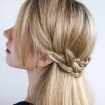 Half crown braid , 6 Small Braided Hairstyles In Hair Style Category