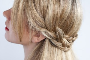 Hair Style , 6 Small Braided Hairstyles : Half crown braid