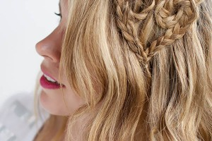 Hair Style , 4 Medium Length Hair Braid Styles : Heart Braid by Hair Romance