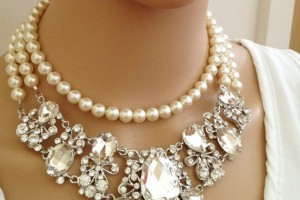 Jewelry , 7 Crystal Bib Necklace Etsy : Hollywood Crystal Bib Necklace