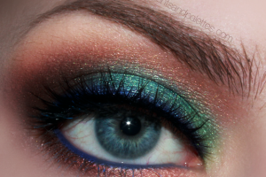 620x503px 7 Peacock Eye Makeup Tutorial Picture in Make Up