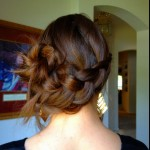 Inverted side French braid bun hair  , 6 Buns With Braiding Hair In Hair Style Category