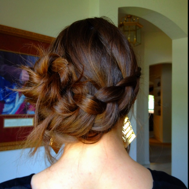 Easy Braided Side Bun  Woman Hairstyles