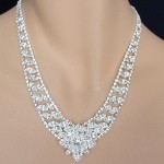 Crystal Necklace Set - Swarovski Rhinestones , 6 Crystal Necklace In Jewelry Category