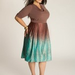 Jane Vintage Plus Size Dress In Cocoa Style , 5 Vintage Style Dresses Plus Size In Fashion Category