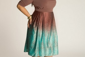 Fashion , 5 Vintage Style Dresses Plus Size : Jane Vintage Plus Size Dress in Cocoa Style