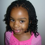 kinky twists hairstyle front view African American little girls , 7 Little Girls Twist Hairstyles In Hair Style Category