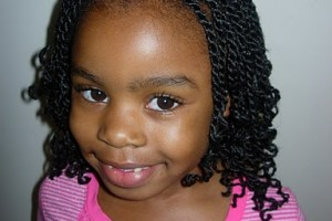 Hair Style , 7 Little Girls Twist Hairstyles : kinky twists hairstyle front view African American little girls