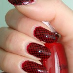 Konad Nail Art Black Red , 6 Black Red Nail Design In Nail Category